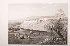 terre sainte, Jerusalem, vue prise du Scopus 19°eme