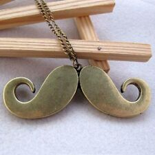 Schnurrbar T Antique Gold Bronze Xxl Moustache Mustache Blogger Necklace Bart