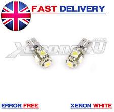 Vauxhall Astra Mk5 H 5 V Led Smd De Alta Potencia número de licencia Placa bombillas W5w