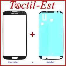 Vitre Ecran Verre pour Samsung Galaxy S4 GT-i9500 GT-i9505 Noir + Adhésif