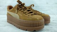 Puma Fenty by Rihanna Tan Suede Cleated Creeper Sneakers Size US 9