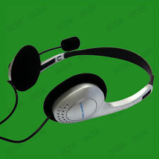 Wired 2M Headset With Microphone, Inline Volume & Dual 3.5mm Stereo Jacks
