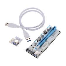 PCI-E USB3.0 Express 1x-16x GPU Extender Riser Card Adapter 10Pin Power Cables