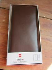 NWT victorinox wallet Swiss Army 1st Class travel Organizer 36367Brown leather