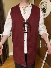 Tunic Vest Maroon Mens Large Renaissance Merchant