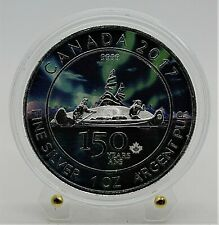 2017 Canada - Voyageur 150 Years Canada-Northern Lights-1 Oz Silver Colored Coin