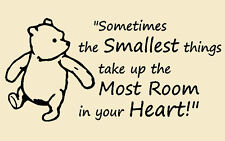 Children's Winnie the Pooh  Wall Art Sticker Decal Quote Saying