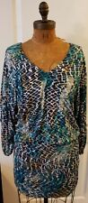 BEAUTIFUL Laundry by Shelli Segal Multi Color Zippered Lined Dress Size 4