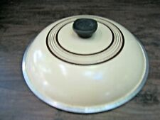 Club Aluminum Replacement Pot Lid 10 Inch~~Cream with Brown Stripes~Round Knob