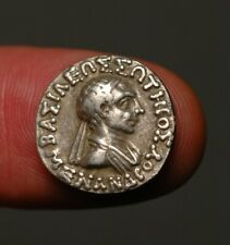 IG17-29  Bactrian / Indo-Greek, Menander I, 165-135 BC. Silver Drachm.
