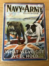 NAVY & ARMY BRITISH BULL DOGS 15X20 CM STEEL WALL PLAQUE QUALITY RETRO SIGN GIFT