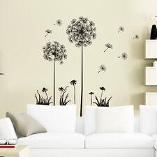 Vinyl Art Dandelion Wall Sticker Black Decal Mural Home Bedroom Schoolroom Decor