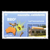New Caledonia 1990 - Francophony Architecture Map - Sc 634 MNH