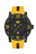 Mens Caterpillar Bold CAT NJ16127137 Yellow  Rubber Yellow Accents Sport Watch