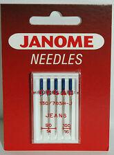 JANOME JEANS SEWING MACHINE NEEDLES 130/705 H-J Size 90/14 -100/16  Pkt J505