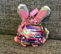 FAB Glittery Smiggle Reversey Reverse Sequin Bunny Keyring Character Girls Gift