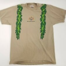 Vintage 1997 Mens sz Large Merrie Monarch Festival Hilo Hawaii Jerzees Beige