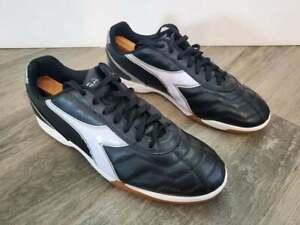 Diadora Men's Size 12 Capitano ID Indoor Soccer Shoes Black White