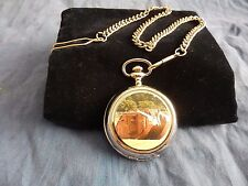 WW1 WORLD WAR ONE ALLIED TANK CHROME POCKET WATCH WITH CHAIN (NEW)  (2)
