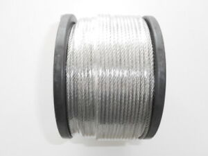 Marine Stainless Steel G316 Wire Balustrade Cable Rope   7 x 7 -  3.2mm Decking