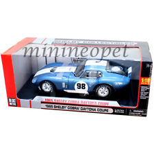 COLLECTIBLES 130 1965 SHELBY COBRA DAYTONA COUPE #98 1/18 DIECAST MODEL CAR BLUE