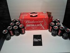 BUDWEISER *METALLICA*  BOX OF 15 EMPTY BEER CANS (LIMITED EDITION)
