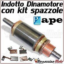 INDOTTO DINAMOTORE + SPAZZOLE PER PIAGGIO APE MP P 501 601 220 1978-1997