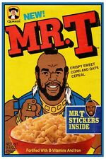 "MR T CEREAL BOX POSTER  - 12"" x 18"""