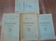 LOT de 4, Histoire de la très Sainte vierge, abbé Nadal chanoine à Valence 1866