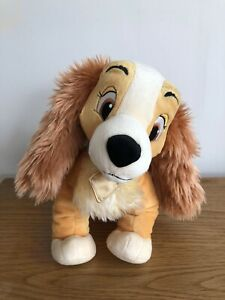 """Genuine Disney Store Lady and the Tramp 'Lady' 12"""" Plush Soft Toy Dog Stamped"""