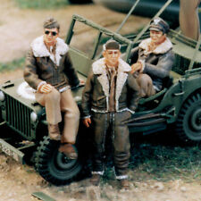 SOL RESIN FACTORY, MM104, U.S ARMY AIR FORCE PILOT WWII (3 FIG.), SCALE 1/48