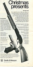 1973 Print Ad of Smith & Wesson S&W Pellet Rifle & Model 41 .22 Pistol Christmas