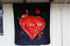 Heart I Love You Hearts Queen Size Blanket Bedspread