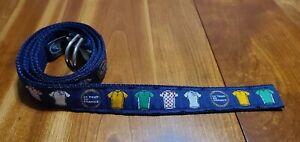 Leather Man LTD Tour De France Cycling Jerseys Canvas Belt XL