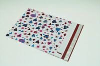 200 Bags 100 10x13 Blue Hearts,100 9x12 Green Designer Poly Mailers Envelopes