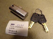 Sargent & Greanleaf File Cabinet Lock w/ 2 Keys
