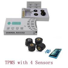 Bluetooth TPMS Car SUV Tire Pressure Monitoring System 4 Sensors For Andriod IOS