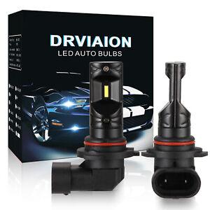 2Pcs 9006 LED Fog Light Bulbs Driving Lamp DRL 6500K High Power