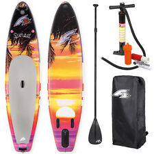 """F2 Sup Sunset Red 10,5 """" 2018 Stand up Paddle Board Inflatable+Paddle Bag Pump"""