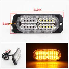 2 Pcs DC12-24V 20LED Amber Car SUV Emergency Side Strobe Warning Flashing Lights