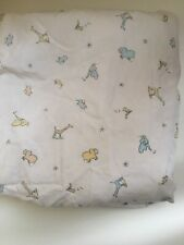 Carters John Lennon Baby Fitted Crib Sheet White Real Love Cotton Animals