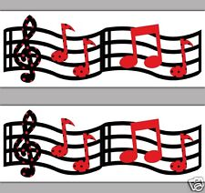 Music Musical Notes Wallpaper Border Wall Decal Kids Room Home Stickers Decor