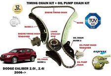 für Dodge Caliber 2.0 2.4 2006- > Steuerkettenspanner Satz + öl-pumpe-kette-kit