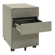 Brownbuilt Octave Mobile Pedestal 390 Wide 3 Drawer Precious Silver (Assembled)