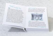 White Wedding Ring Bearer Book Box Ring Pillow Alternative
