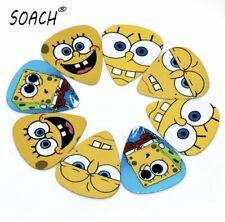 spongebob squarepants guitar picks/plectrums - soach - selection of 5