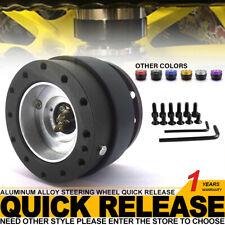 Universal Black Matte Steering Wheel Quick Release Hub Adapter Snap Off Boss Kit