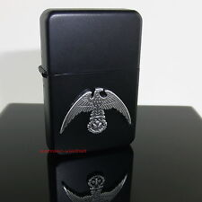 Sturmfeuerzeug ADLER und EISERNES KREUZ m. Emblem Militaria Benzinfeuerzeug Neu