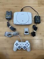 Sony PlayStation 1 PS1 Slim PSone Console System Bundle Controller - Ships Fast