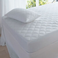 Deep Microfibre Quilted Mattress Protector Topper Fitted Sheet Bed Cover Luxury